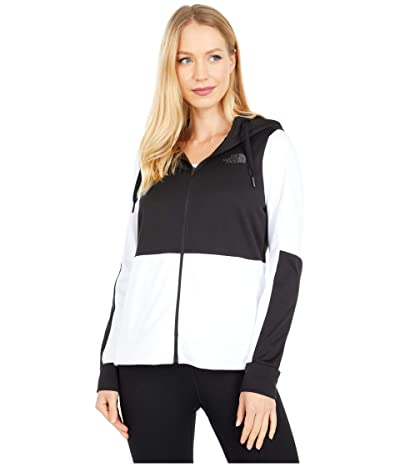 The North Face Kickaround Full Zip Hoodie (TNF White) Women