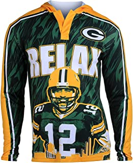 Klew Men's NFL Football 2015 Polyester Player Hoody Tee, Team Variation