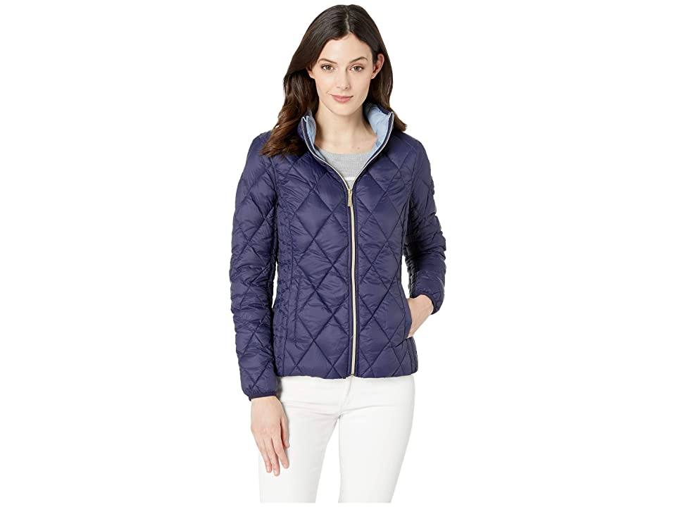 MICHAEL Michael Kors Quilted Nylon Packable Down Jacket M823965M (True Navy) Women