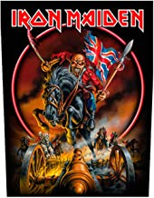 Iron Maiden Back Patch Maiden England 88 Official Black Woven (36Cm X 29Cm)