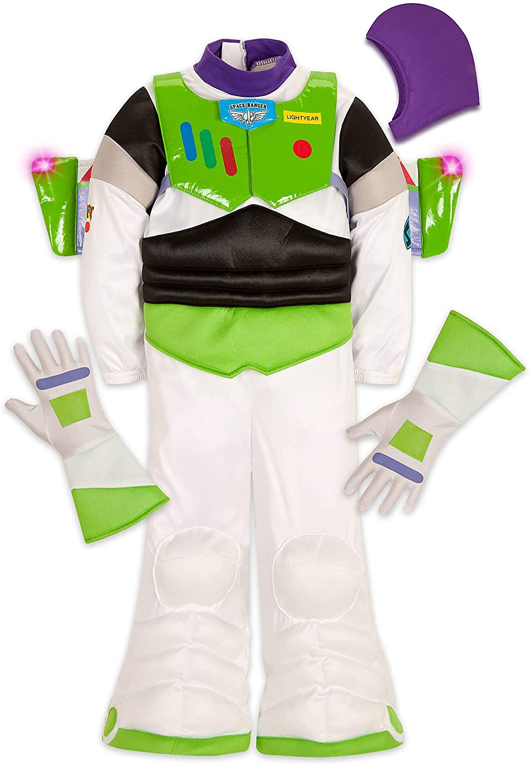 Disney Buzz Lightyear OFFicial shop Spasm price Light-Up Kids for Costume White