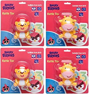 Angry Birds-Rattle Toy Cow, Lion (Pack of 4)