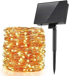 Guirnalda Luces Solares, Speclux 30M 300 LED Cadena de Luces Solares Exterior, 8 Modos Impermeable IP65, Luces Alambre Cob...