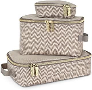 Itzy Ritzy Packing Cubes, Taupe, 3ct