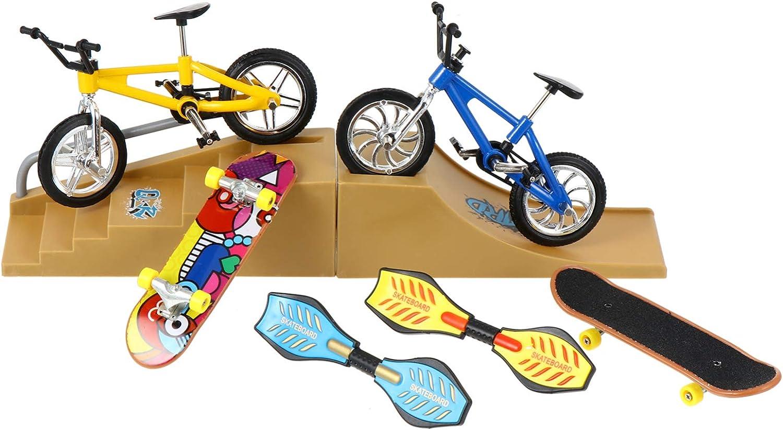 BESPORTBLE 18pcs Popular popular Set Skate Park Ramp Kit Skateboard Bike Finger Fort Worth Mall