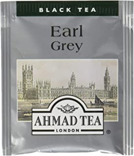 Ahmad Tea Earl Grey (Pack of 1 Total 20 Aluminium Foil Envelopes)