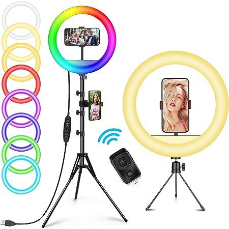 Led Ringlicht Stativ Mit Fernbedienung 10 2 Desktop Kamera