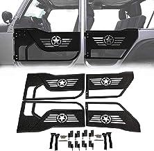 OMUOFFROAD Steel Tubular Door with Five Star Logo for 2007-2017 Jeep Wrangler JK Unlimited 4-Door Only
