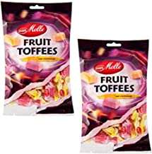 Van Melle Fruit Toffees Candies - (2-Pack) - Dutch Holland Imported Candy, 8.8 oz Per Bag