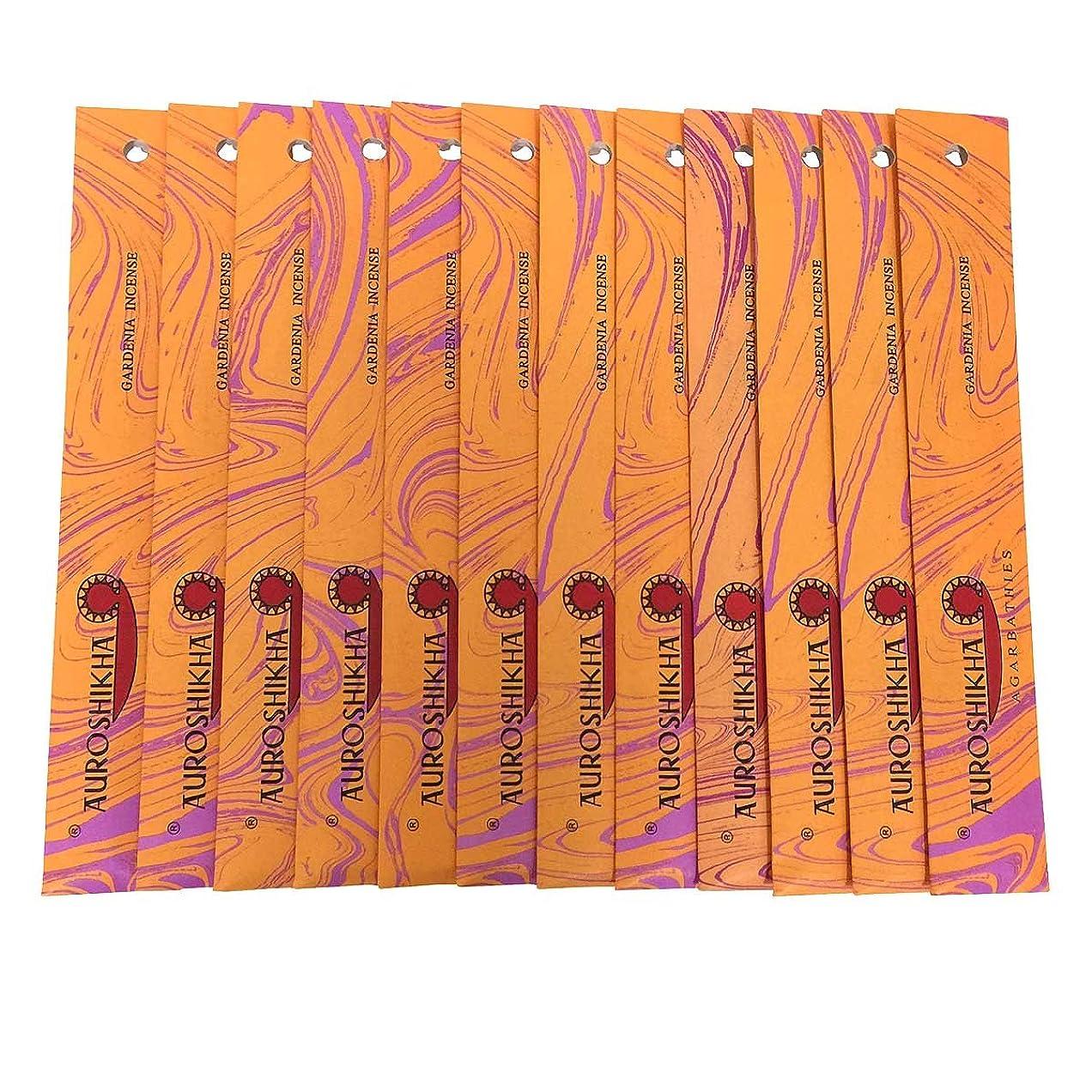 夫脇に締め切りAUROSHIKHA オウロシカ(GARDENIAガーデニア12個セット) マーブルパッケージスティック 送料無料