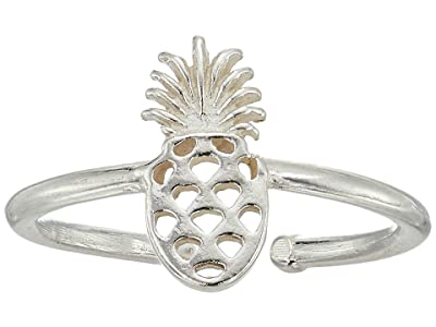 Alex and Ani Pineapple Adjustable Ring (Sterling Silver) Ring