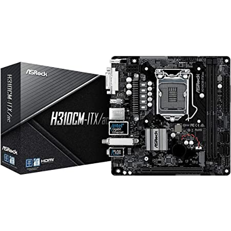 ASROCK Intel 8ND Generation CPU (socket1151H310(), with Chips Mini–ITX Motherboard h310cm–ITX/AC