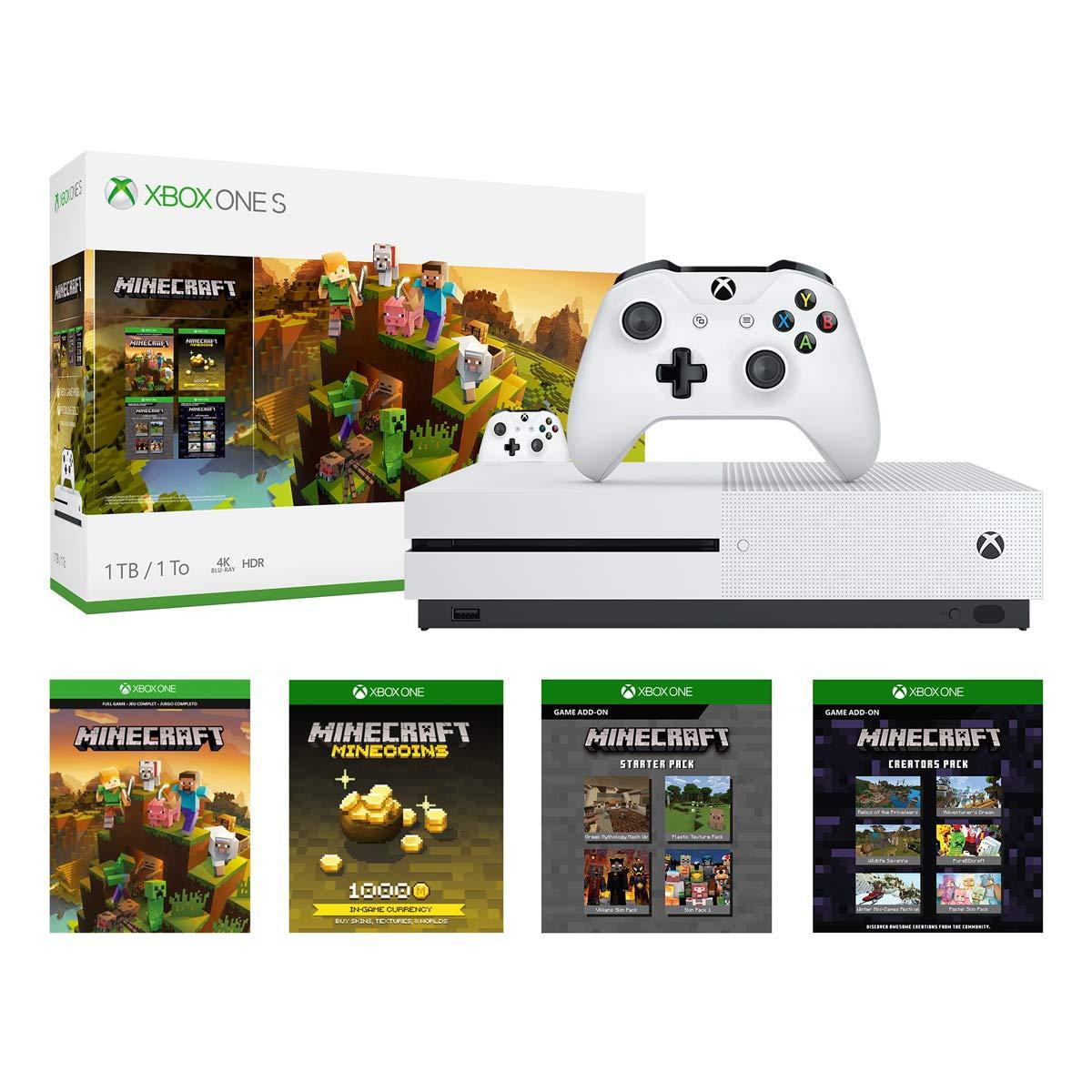 Amazon.com: Xbox One S 10Tb Console - Minecraft Creators Bundle