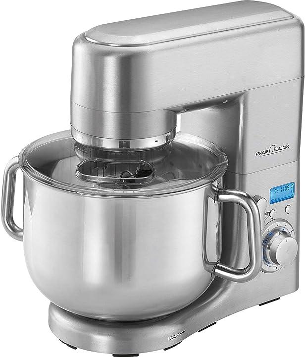 Robot da cucina, coppa in acciaio inossidabile da 10 litri 1500 watt proficook pc-km 1096