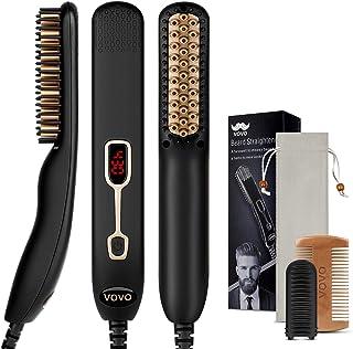 Beard Straightener Comb Upgrade Professional 2 in 1 Men's Beard Straightening Heated Hair Straightening Brush Portable Ant...