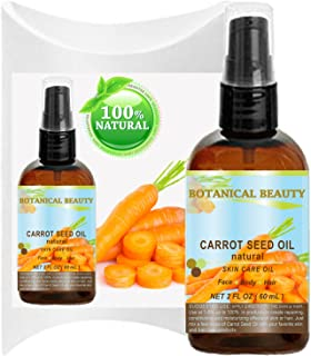 "CARROT SEED OIL 100% Natural Cold Pressed Carrier Oil. 2 Fl.oz.- 60 ml. Skin, Body, Hair and Lip Care.""One of the best oil..."