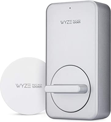 Wyze Lock WiFi & Bluetooth Enabled Smart Door Lock, Wireless & Keyless Door Entry, Hands-Free Voice Control, Home Security, Compatible with Amazon Alexa, Fits on Most Deadbolts, Includes Wyze Gateway