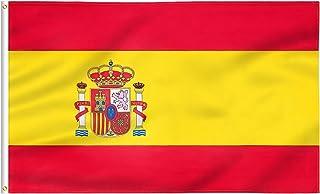 FLAGBURG Bandera de España 240x150 cm, Republicana Española de Tela Fuerte, Doble Costura, con Ojales de Latón, Para Decor...