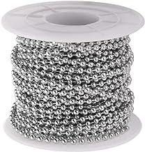 Supvox Metalen parelketting roestvrij staal kogelketting voor doe-het-zelf handwerk decoratie 2,4 mm diameter 1 rol 10 met...