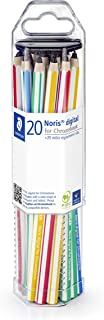 STAEDTLER Noris digital for Chromebook Class Pack, 20 touchscreen pencils with a fine 0.7 mm tip, 18022-GC20