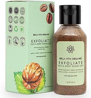 Bella Vita Organic Exfoliate Coffee Scrub For Face & Body Skin Brightening De Tan Removal Ayurveda, Dirt Removal From Nec...