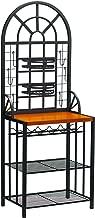 Dome Bakers Rack w/ Wine Bottle Storage - Adjustable Nesting Baskets - Metal Tube Frame