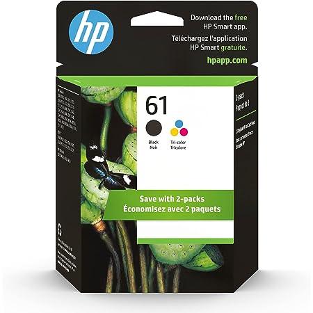 Original HP 61 Black/Tri-color Ink (2-pack)   Works with DeskJet 1000, 1010, 1050, 1510, 2050, 2510, 2540, 3000, 3050, 3510; ENVY 4500, 5530; OfficeJet 2620, 4630   Eligible for Instant Ink   CR259FN