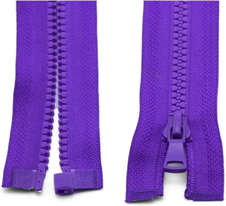 Decorative Zipper Resin Zipper Open-End Auto Lock Zippers for Se