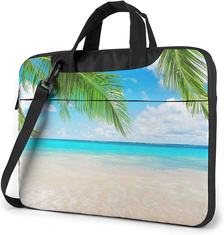 unisex Tropical Beach Plant Theme Laptop Waterproof Shoulder Messen Bag Price reduction