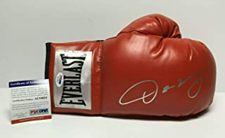 Oscar De La Hoya Signed Red Everlast Boxing Glove AC19623 - PSA/DNA Certified - Autographed Boxing Gloves