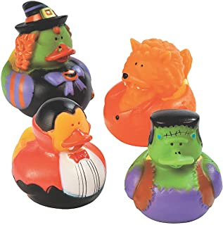 Fun Express - Halloween Costume Duckies for Halloween - Toys - Character Toys - Rubber Duckies - Halloween - 12 Pieces
