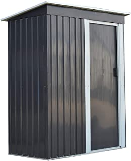 DOIT 5'x3'x6' Outdoor Garden Storage Shed Heavy Duty Sliding Door for Backyards and Patios,Storage Shed with Sloped Metal Roof