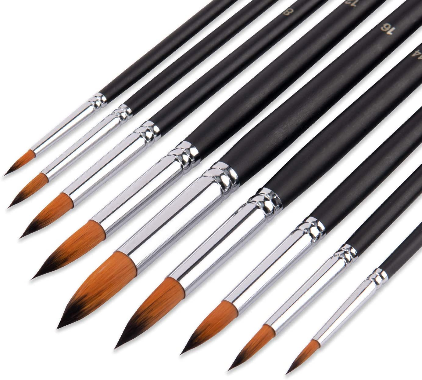 Professional Artist Paint Brushes 9 Point Round Tip B Max Gorgeous 78% OFF Pcs
