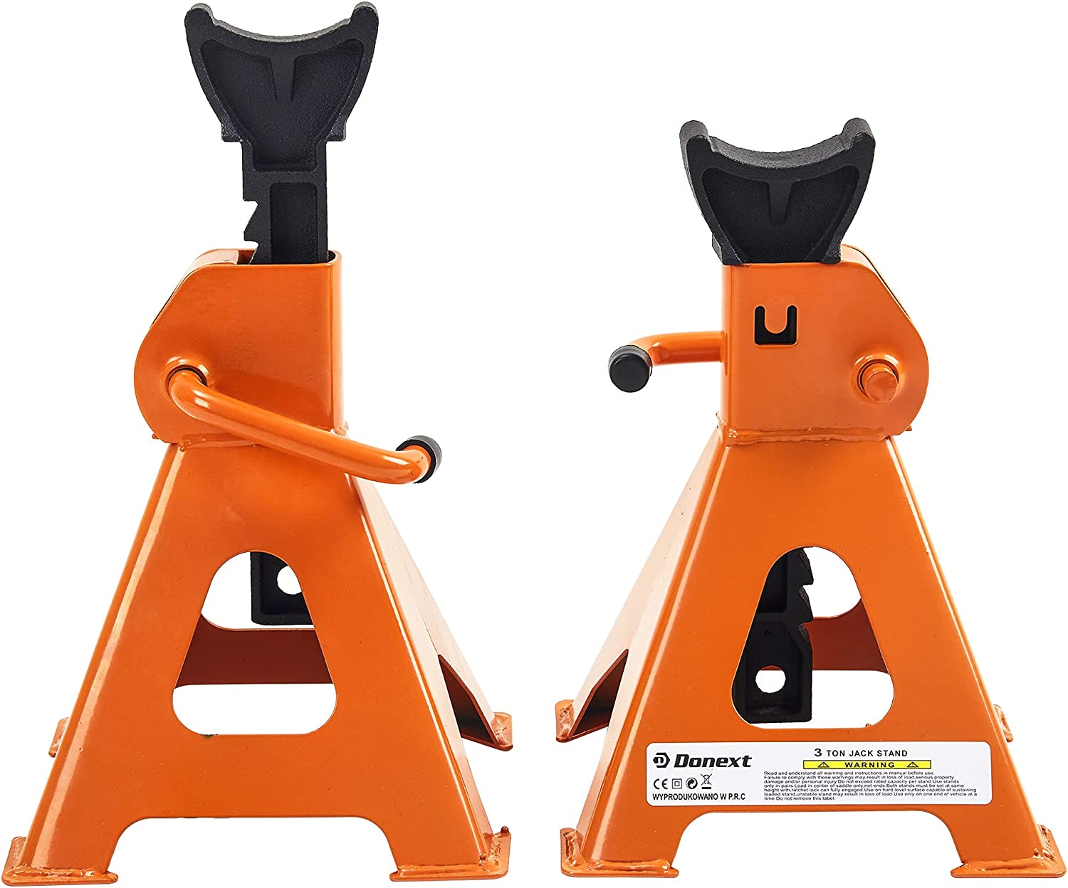 Donext Max 88% OFF Jack Stand 3 Ton Clearance SALE! Limited time! 1 Steel Orange Capacity Pair