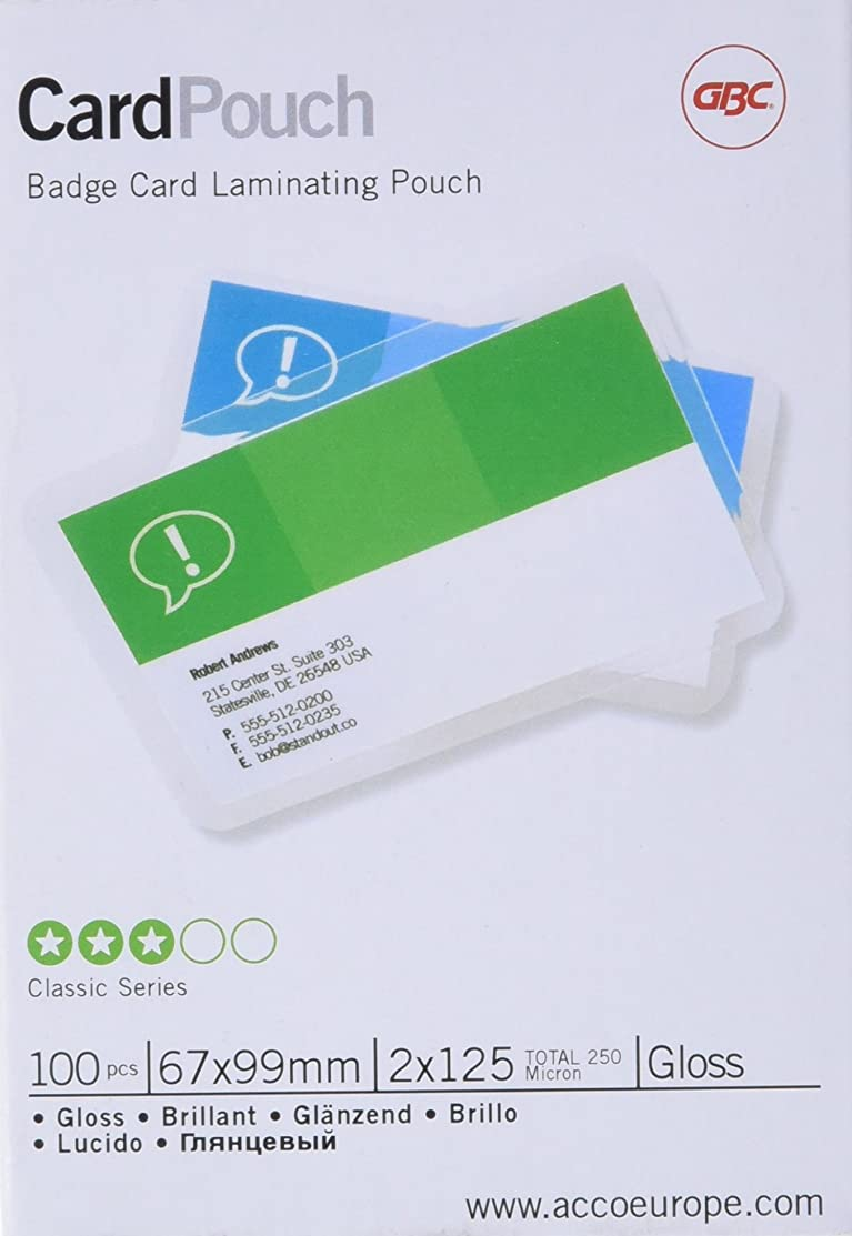 GBC Card Laminating Pouches - Clear, Pack of 100