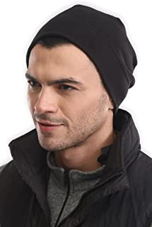 Fleece Beanie Winter Hat - Tactical Military Skull Cap - Army Style Hat for Cold Weather - Watch Cap for Men & Women - Midweight Thermal Retention and Stretchy - Perfect for Sports & Daily Wear