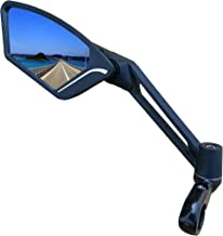 MEACHOW New Scratch Resistant Glass Lens,Handlebar Bike Mirror, Adjustable Safe Rearview Mirror, Bicycle Mirror,ME-003(2019)