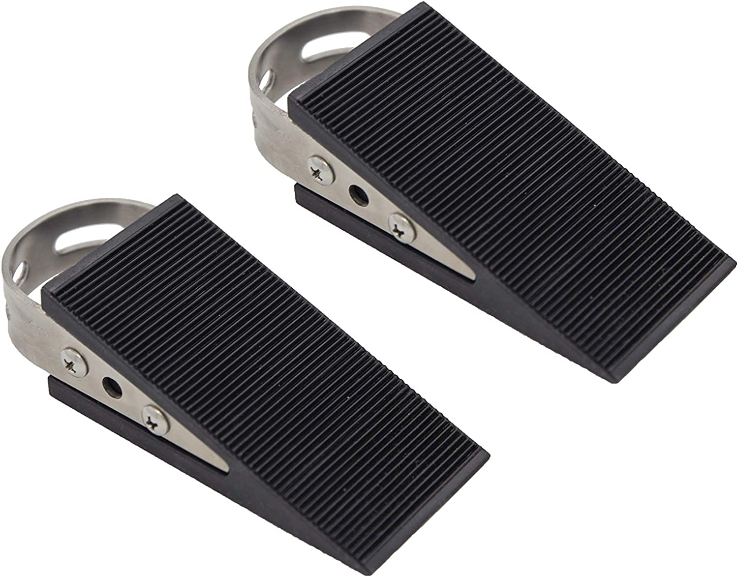 DW_Decor Door Stopper 2 Under blast sales Pack Fees free Steel Rubber Stainless Heavy and