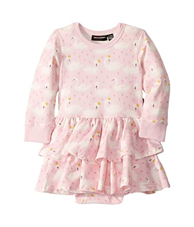Rock Your Baby Swannie Long Sleeve Layered Dress (Infant) (Pink) Girl