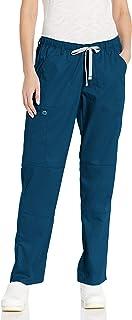 WonderWink Wonderwork pantalón Recto de Pierna Cargo, Exfoliante Pantalones quirúrgicos para Mujer