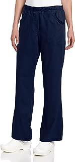 Urbane Women's Plus Ultimate Soft Stretch Elastic Waist Flare Leg Scrub Pant, Navy, 2X-Large Petite