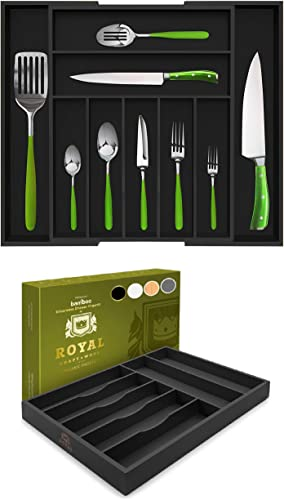 popular Bamboo outlet online sale Kitchen Drawer Organizers - Expandable and Non-Expandable Silverware online sale Organizers outlet online sale