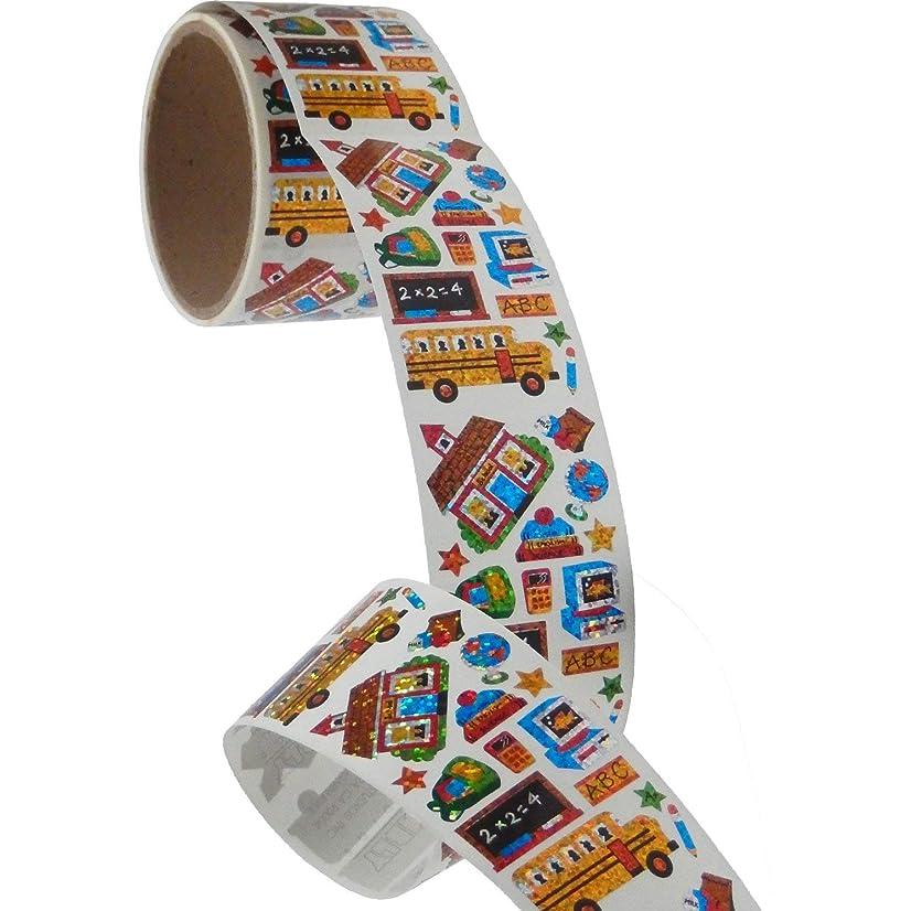 Bulk Roll Prismatic Stickers, School Days (50 Repeats)