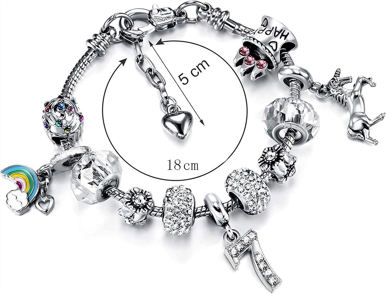 JIAJBG Charms 18Cm Bracelet Same day shipping Bangle Beads Girl's San Francisco Mall Flower Women for