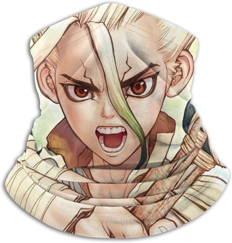 ZELXXXDA Dr.Stone Anime Scarf Genuine Free Shipping mask Warmer ski Microfiber Max 59% OFF Neck