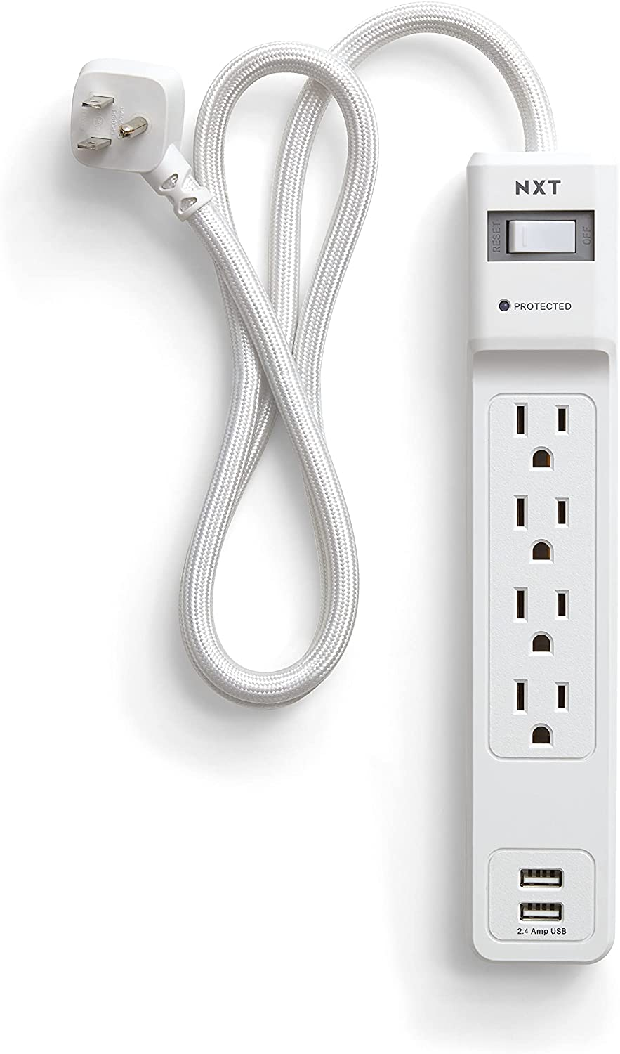 NXT Technologies Special sale item 24324333 Seattle Mall 4-Outlet 2 Cor 3ft Protector USB Surge