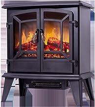 Chimenea eléctrica Estufa de calefacción Estufa eléctrica Calefacción con Efecto de Llama Protección contra sobrecalentamiento Sistema de Apagado de Seguridad Calefacción de 1400 W Calefacción Negra