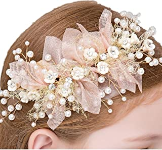Clothing, Shoes & Accessories Bright Hot Ivory Handmade Flower Hair Clips For Girls