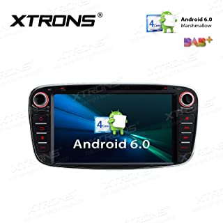XTRONS 7 Inch Android 6.0 Quad Core 16G ROM HD Digital Multi-touch Screen Car Stereo GPS Radio DVD Player OBD2 DVR for Ford Focus Mondeo (Black)