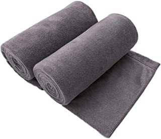 "JML Microfiber Bath Towel 2 Pack(30"" x 60""), Oversized, Soft, Super Absorbent and Fast Drying, No Fading Multipurpose Use for Sports, Travel, Fitness, Yoga, Grey"